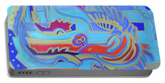 Portable Battery Charger featuring the painting Hexagram 22-pi by Denise Weaver Ross