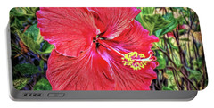 Portable Battery Charger featuring the photograph Hibiscus Flower by Lewis Mann