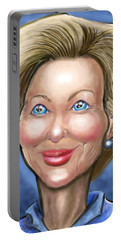 Hillary Clinton Caricature Portable Battery Charger by Kevin Middleton