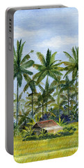 Portable Battery Charger featuring the painting Home Bali Ubud Indonesia by Melly Terpening