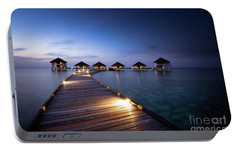 Portable Battery Charger featuring the photograph Honeymooners Paradise by Hannes Cmarits