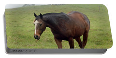 Horse In The Fog Portable Battery Charger by Pamela Walton