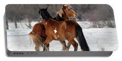 Portable Battery Charger featuring the photograph Horseplay by Mike Dawson
