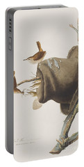 House Wren Portable Battery Charger by John James Audubon