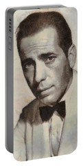 Humphrey Bogart Vintage Hollywood Actor Portable Battery Charger by John Springfield