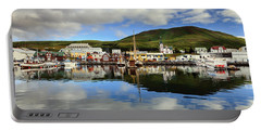 Husavik Harbor Portable Battery Charger by Alexey Stiop