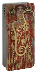 Portable Battery Charger featuring the painting Hygieia by Gustav Klimt