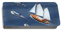 In The Company Of Whales Portable Battery Charger