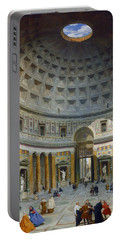 Interior Of The Pantheon - Rome Portable Battery Charger