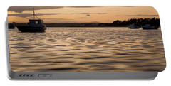 Portable Battery Charger featuring the photograph Irish Dusk by Ian Middleton