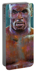 Portable Battery Charger featuring the painting Iron Mike by Robert Phelps