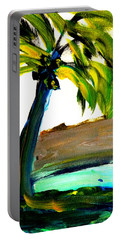 Portable Battery Charger featuring the painting Island Time by Fred Wilson