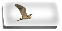 Portable Battery Charger featuring the photograph Isolated Great Blue Heron 2015-5 by Thomas Young