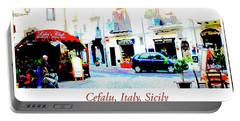 Italian City Street Scene Digital Art Portable Battery Charger