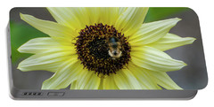 Portable Battery Charger featuring the photograph Italian Sunflower by Brenda Jacobs