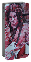 Portable Battery Charger featuring the drawing Jack White by Joshua Morton