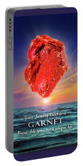 January Birthstone Garnet Portable Battery Charger
