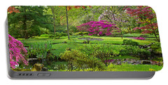 Japanese Garden Portable Battery Charger by Anastasy Yarmolovich
