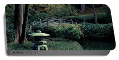 Portable Battery Charger featuring the photograph Japanese Garden In Summer by Iris Greenwell