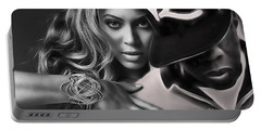 Jay Z Beyonce Collection Portable Battery Charger by Marvin Blaine