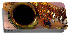 Jazz Saxaphone Portable Battery Charger