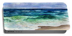 Portable Battery Charger featuring the painting Jersey Shore by Clara Sue Beym