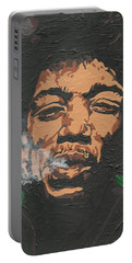 Jimi Hendrix Portable Battery Charger by Rachel Natalie Rawlins