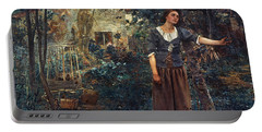 Portable Battery Charger featuring the  Joan Of Arc C1412-1431 by Granger