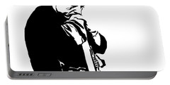 Johnny Cash Black And White Portable Battery Charger