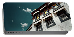 Portable Battery Charger featuring the photograph Jokhang Temple Wall Lhasa Tibet Artmif.lv by Raimond Klavins
