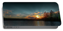 June Sunset On Nicks Lake Portable Battery Charger by David Patterson