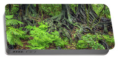 Portable Battery Charger featuring the photograph Jungle Roots by Les Cunliffe