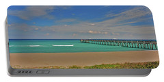 Portable Battery Charger featuring the photograph 1- Juno Beach Pier by Joseph Keane