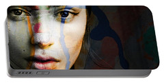 Portable Battery Charger featuring the mixed media Just Like A Woman by Paul Lovering