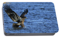 Portable Battery Charger featuring the photograph Juvenile Eagle Fishing by Coby Cooper