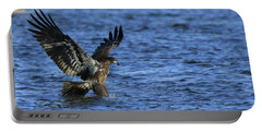 Juvenile Eagle Fishing Portable Battery Charger by Coby Cooper