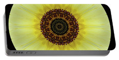 Portable Battery Charger featuring the photograph Kaleidoscope Image Of An Italian Sunflower by Brenda Jacobs
