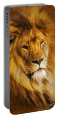 King Of The Beasts Portable Battery Charger by Ian Mitchell