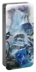 Kingfisher's Realm Portable Battery Charger by Sherry Shipley