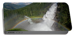 Krimml Waterfall And Rainbow Portable Battery Charger
