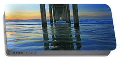 Portable Battery Charger featuring the photograph La Jolla Blue  by John F Tsumas