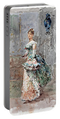 Lady In Formal Dress Portable Battery Charger