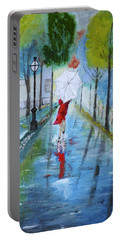 Lady In Red Original Version Portable Battery Charger by Dick Bourgault