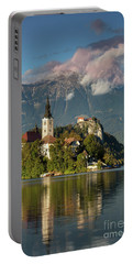 Portable Battery Charger featuring the photograph Lake Bled by Brian Jannsen