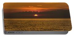 Lake Michigan Sunset  Portable Battery Charger