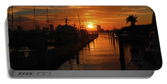 Portable Battery Charger featuring the photograph 1- Lake Park Marina by Joseph Keane