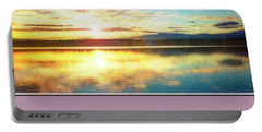 Portable Battery Charger featuring the photograph Lake Sunset, Pocono Mountains, Pennsylvania by A Gurmankin