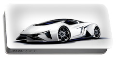 Portable Battery Charger featuring the digital art Lamborghini by Brian Gibbs