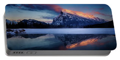 Last Light On Mount Rundle Portable Battery Charger