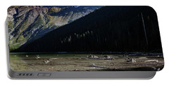Portable Battery Charger featuring the photograph Late Afternoon On Avalanche Lake by Lon Dittrick